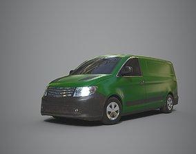 Generic Minivan Green 3D asset