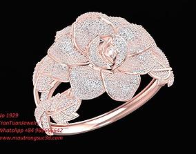1929 Luxury Diamond Rose Bangle 3D print model