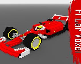 3D asset formula Voxel F1 Car