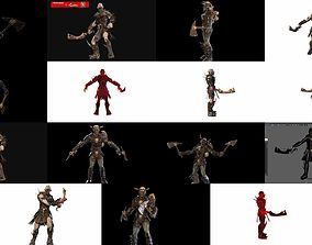 3D model A large collection of fantasy creatures and