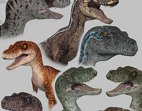 3D Extreme Raptor Collection - 8K - Animated