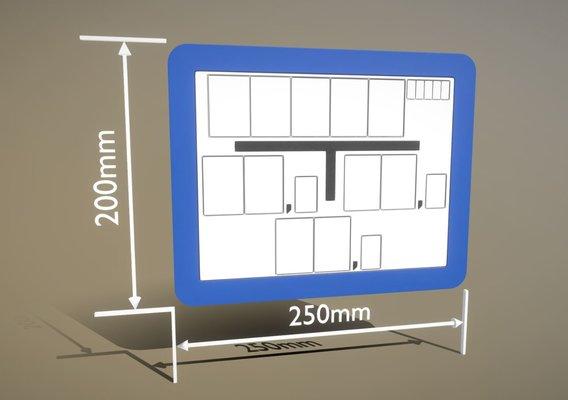 Hinweisschild Hydrant blau 200x250mm