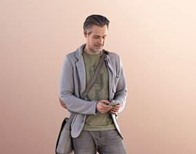 Will 10838 - Man Standing Texting With 3D model 2