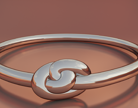 Knotted ring 3D printable model knot