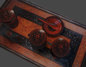 Han Dynasty Pot and table 3D model