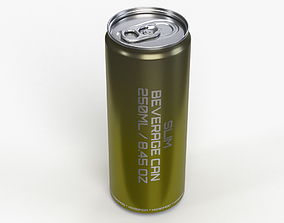 Slim beverage can 250 ml 8-45 oz 3D