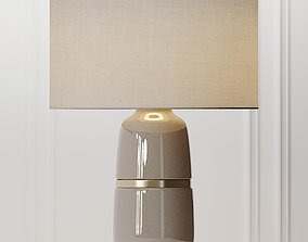 COX and COX Banded Ceramic Table Lamp 3D
