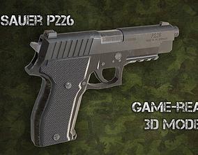 3D asset low-poly Sig Sauer P226