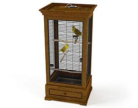 3D model Asian Style Bird Cage