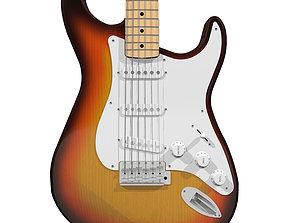 Guitar - Fender Stratocaster - Sunburst Finish 3D model