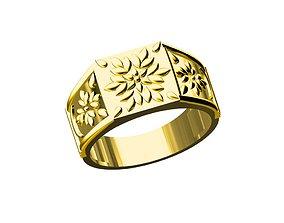 platinum 3D print model Gents ring