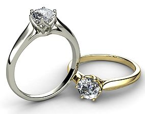 Diamond Bridal Ring 3D print model jewelry