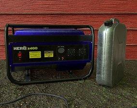 Electric generator 3D asset
