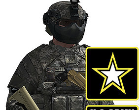 US Army Infantry with IOTV and FAST armor 3D