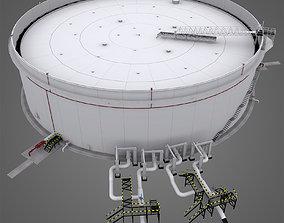 3D model Oil Reservoir or oil tank
