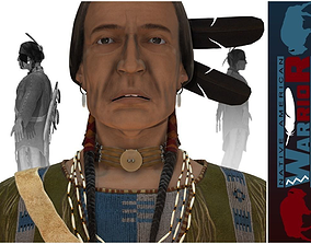 3D model Native American Warrior