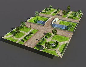 3D asset Low poly Park