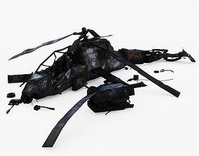 3D model Crashed Helicopter