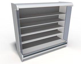 3D model Shop shelf refrigerated