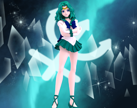 3D rigged Sailor Neptune
