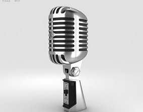 amplifier 3D model Retro Microphone