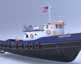 3D Oil work boat
