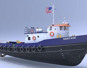 3D model Oil work boat