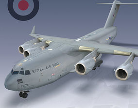RAF C-17 Globemaster III 3D model realtime