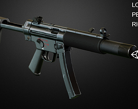 MP5 SMG 3D model rigged