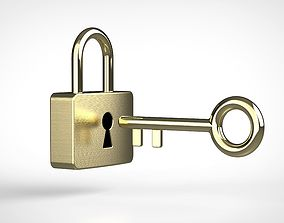 3D key and padlock