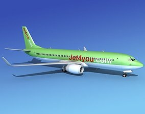 Boeing 737-800 Jet4You 3D model