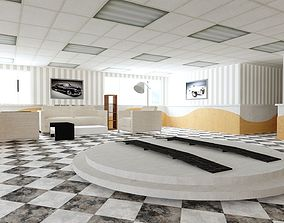 3D model Car Showroom Garage Gallery