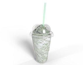 Milkshake Cup - Mint 3D model