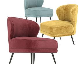 3D model Kitts Chair Flax Linen Arteriors