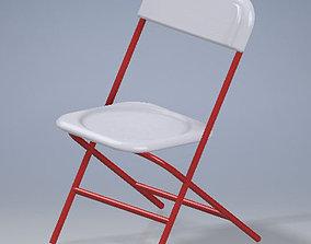 Red chair 3D asset