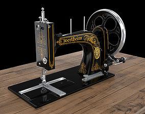 vintage sewing machine 3D