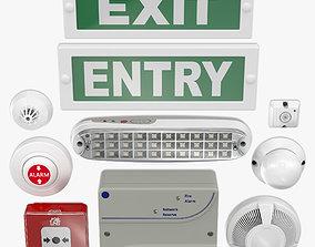 Fire alarm Set 3D model