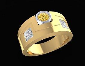 LUXURY DIAMOND RING FOR MEN 1565 3D print model