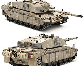Challenger 2 British main battle tank 3D