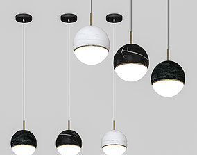 black 3D model OMGPFR - ceiling lamp