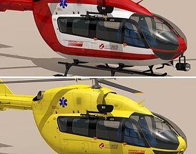 3D model EC145 air ambulance