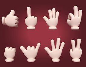 Hand Emoji Signs - Icons Collection 3D asset