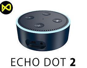 Amazon Echo Dot 2nd Generation 3D model tab