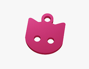 Cat face trinket 3D printable model