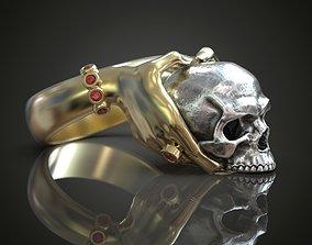 wedding Ring Hands skull 3D printable model