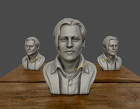 figurines 3D Sculpture of Johnny Depp 3D printable model