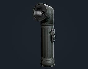 Military Flashlight Game Ready 3D asset PBR