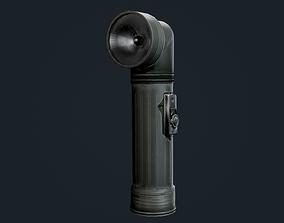 Military Flashlight Game Ready 3D asset
