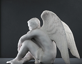Male Angel sculpture 3D print model