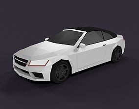 LowPoly Cartoon Sport Car 3D model